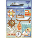 Karen Foster Design - Cruise Collection - Cardstock Stickers - The Open Sea