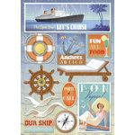 Karen Foster Design - Cruise Collection - Cardstock Stickers - The Open Sea