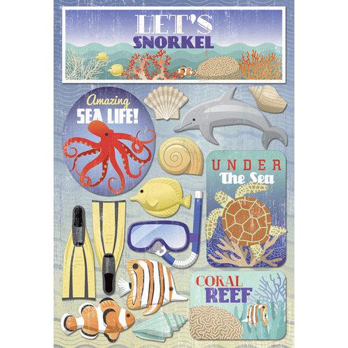 Karen Foster Design - Snorkeling Collection - Cardstock Stickers - Let's Snorkel