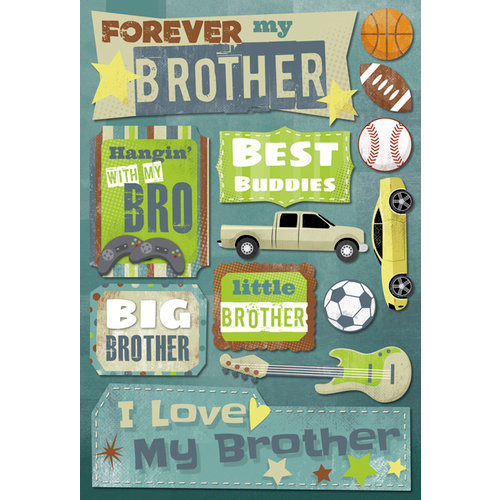 Karen Foster Design - Brothers Collection - Cardstock Stickers - Forever My Brother