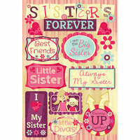 Karen Foster Design - Sisters Collection - Cardstock Stickers - Sisters Forever