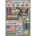Karen Foster Design - Military Collection - Cardstock Stickers - A Legacy Of Honor