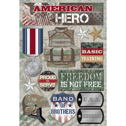 Karen Foster Design - Military Collection - Cardstock Stickers - American Hero