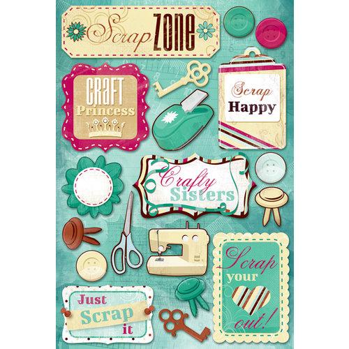 Karen Foster Design - Scrapbooking Collection - Cardstock Stickers - Scrap Zone