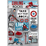 Karen Foster Design - Curling Collection - Cardstock Stickers - Curling