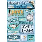 Karen Foster Design - Swimming Collection - Cardstock Stickers - Ready. Set. Swim.