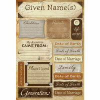Karen Foster Design - Ancestry Collection - Cardstock Stickers - My Ancestry