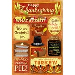Karen Foster Design - Autumn and Thanksgiving Collection - Cardstock Stickers - Happy Thanksgiving