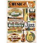 Karen Foster Design - Orchestra and Band Collection - Cardstock Stickers - Music In The Air