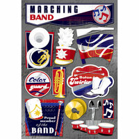 Karen Foster Design - Marching Band Collection - Cardstock Stickers - The Marching Band