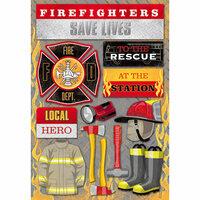 Karen Foster Design - Firefighter Collection - Cardstock Stickers - Firefighter