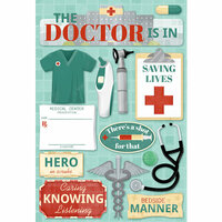 Karen Foster Design - Doctor Collection - Cardstock Stickers - The Doctor Is In