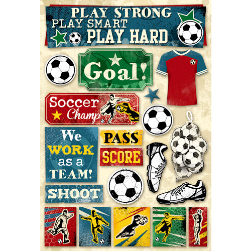 Karen Foster Design - Soccer Collection - Cardstock Stickers - Soccer, Goal