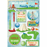 Karen Foster Design - Mini Golf Collection - Cardstock Stickers - Mini Golf