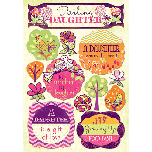 Karen Foster Design - Daughter and Son Collection - Cardstock Stickers - Darling Daughter