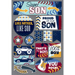 Karen Foster Design - Daughter and Son Collection - Cardstock Stickers - Super Son