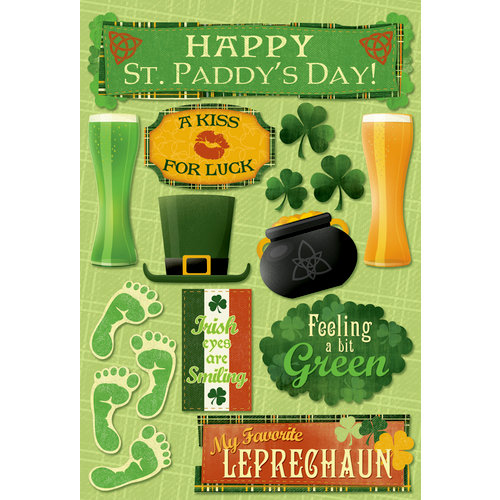 Karen Foster Design - St. Patrick's Day Collection - Cardstock Stickers - Happy St. Paddy's Day