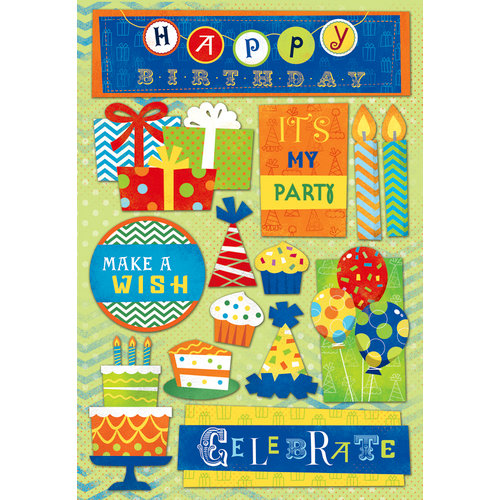 Karen Foster Design - Birthday Collection - Cardstock Stickers - It