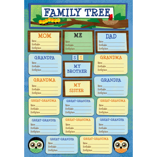 Karen Foster Design - Kid's Ancestry - Cardstock Stickers - Family Tree