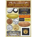 Karen Foster Design - Coin Collecting and Stamp Collecting Collection - Cardstock Stickers - Coin Collecting