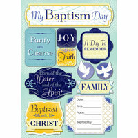 Karen Foster Design - Baptism Collection - Cardstock Stickers - My Baptism Day