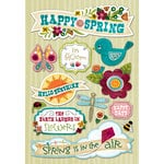 Karen Foster Design - Spring Collection - Cardstock Stickers - Happy Spring