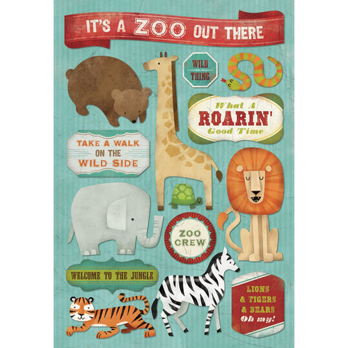 Karen Foster Design - Zoo Collection - Cardstock Stickers - It is A Zoo Out There