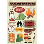 Karen Foster Design - Camping Collection - Cardstock Stickers - I Would Rather Be Camping