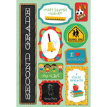 Karen Foster Design - School Collection - Cardstock Stickers - I Am In Second Grade