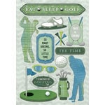 Karen Foster Design - Golf Collection - Cardstock Stickers - Eat Sleep Golf