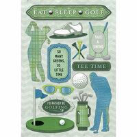 Karen Foster Design - Golf Collection - Cardstock Stickers - Eat Sleep Golf