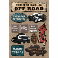 Karen Foster Design - Off Road Collection - Cardstock Stickers - Going Off Road