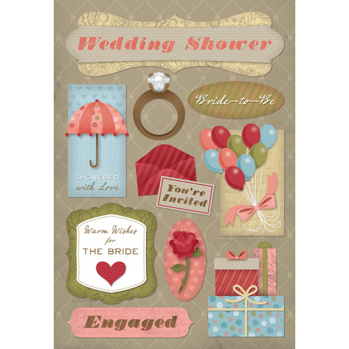Karen Foster Design - Cardstock Stickers - It's a Wedding Shower