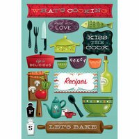 Karen Foster Design - Cardstock Stickers - What's Cooking