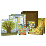 Karen Foster Design - Kids' Ancestry Collection - Scrapbook Kit - Family Tree