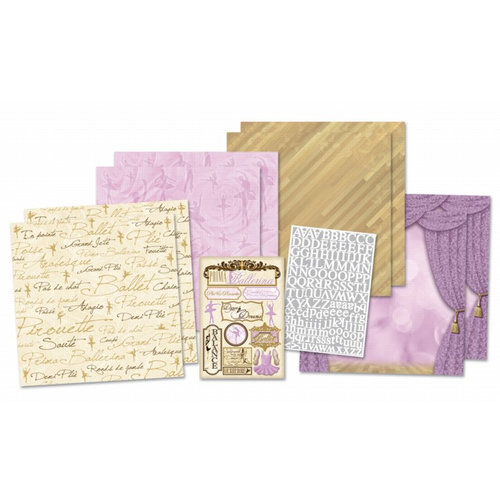 Karen Foster Design - Ballet Collection - Scrapbook Kit - Ballerina