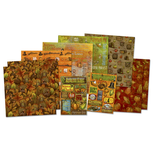 Karen Foster Design - Autumn Collection - Scrapbook Kit - Golden Days