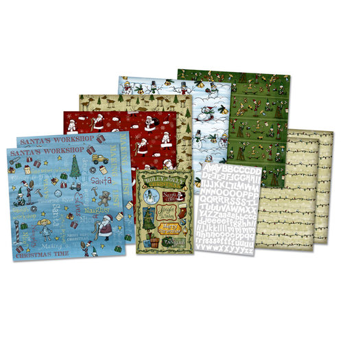 Karen Foster Design - Whimsical Christmas Collection - Scrapbook Kit - Whimsical Christmas, BRAND NEW - click to enlarge