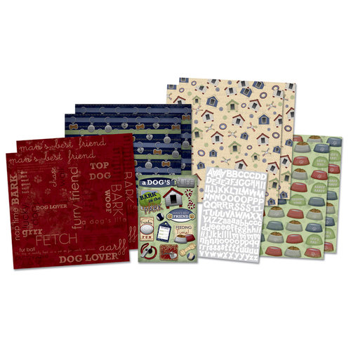 Karen Foster Design - Dog Collection - Scrapbook Kit - Furry Friend