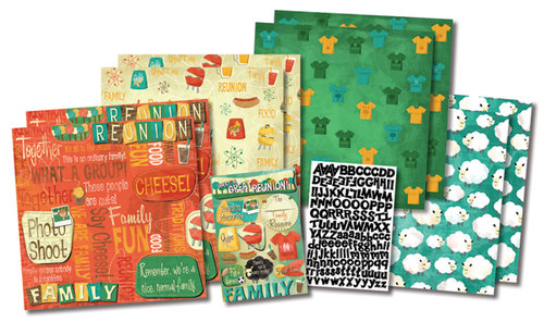 Karen Foster Design - Family Reunion Collection - Scrapbook Kit - Let' Get Together
