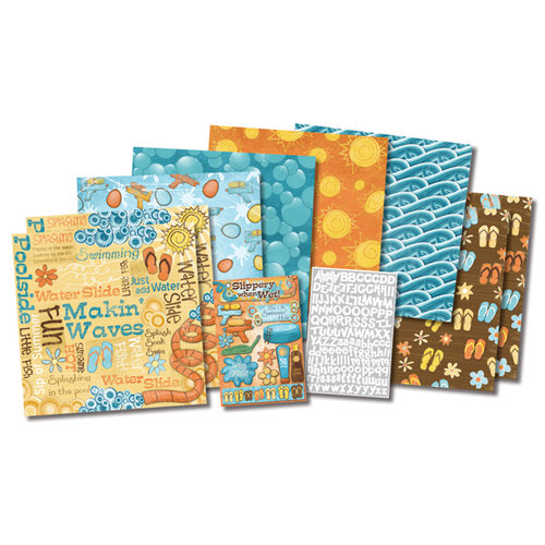 Karen Foster Design - Water Fun Collection - Scrapbook Kit - Fun in the Sun