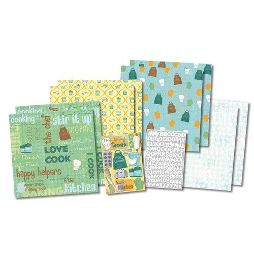 Karen Foster Design - In the Kitchen Collection - Scrapbook Kit - Chef at Work