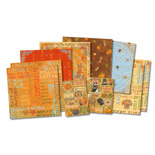 Karen Foster Design - Thanksgiving and Autumn Collection - Scrapbook Kit - Harvest Time
