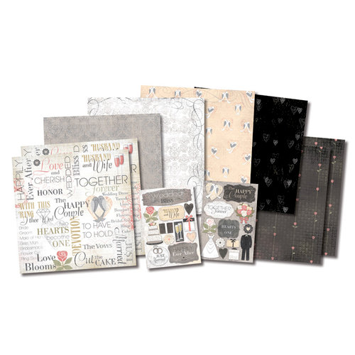 Karen Foster Design - Wedding Collection - Scrapbook Kit - The Happy Couple