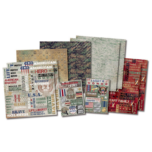 Karen Foster Design - Military Collection - Scrapbook Kit - Military Life