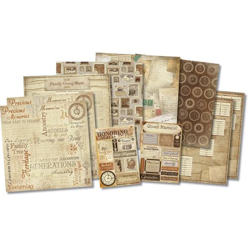 Karen Foster Design - Ancestry Collection - Scrapbook Kit - Honoring The Past