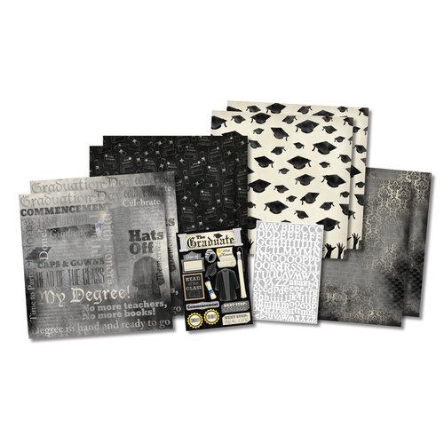 Karen Foster Design - Graduation Collection - Scrapbook Kit - Hats Off