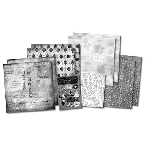 Karen Foster Design - Wedding Collection - Scrapbook Kit - Our Wedding Story
