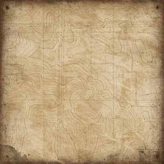 Karen Foster Design - Outdoors Collection - 12x12 Paper - Topographical Map