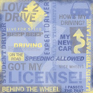 Karen Foster Design - Driving Collection - Paper - Driving Collage, CLEARANCE